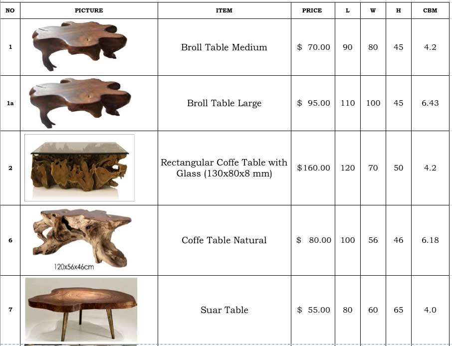 Teak Root Wood Furniture Indonesia Bali
