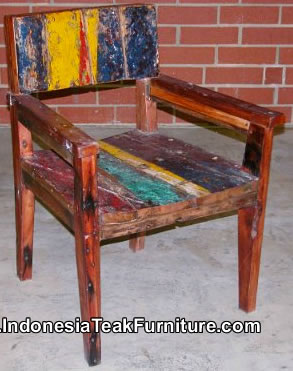 Reused Furniture reclaimed boat wood furniture chairs bali indonesia – bali-crafts