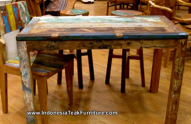 ship wood furniture. Reclaimed Boat Wood Furniture Table From Bali Indonesia \u2013 Bali-Crafts.com Ship B