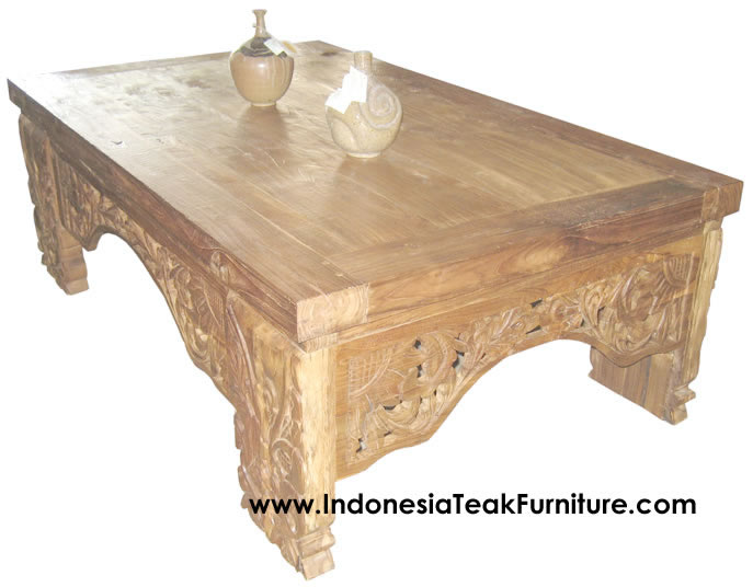 Carved Wood Coffee Table Bali Indonesia