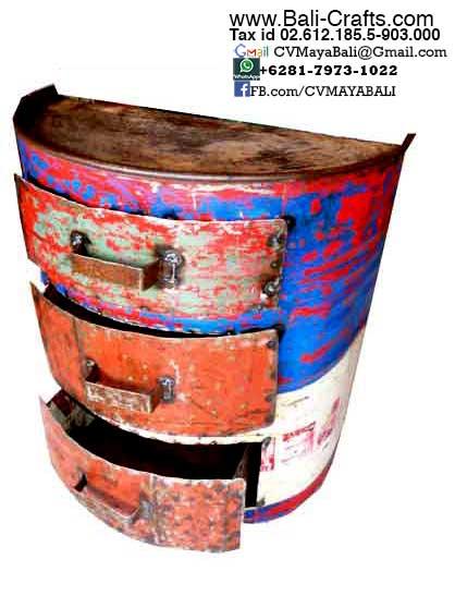drum furniture. oildrm112 repurposed oil drum furniture bali indonesia