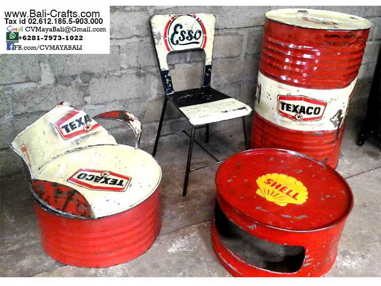 Superior Oildrm1 2 Recycled Oil Drum Furniture