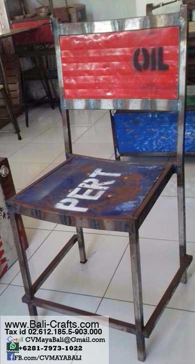 Bftml1 4 Rustic Steel Chairs Furniture