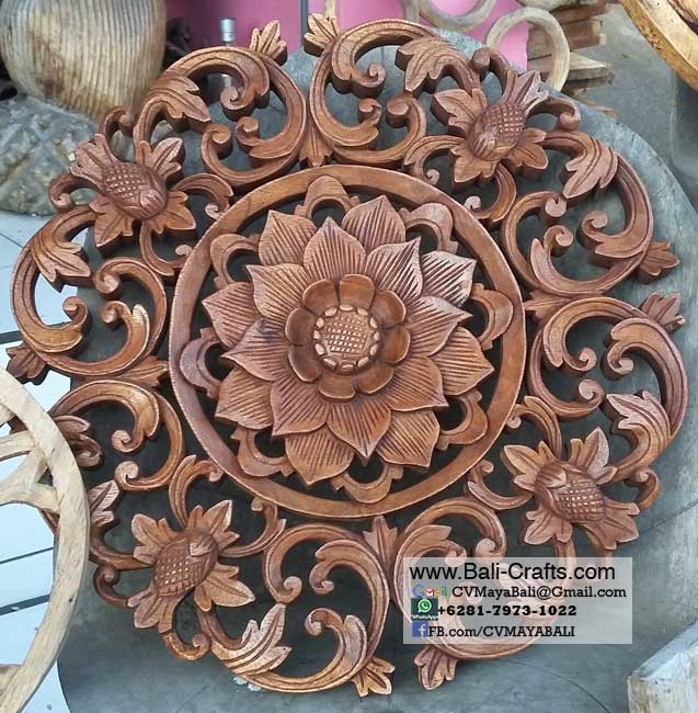 Wooden Panel Flower From Bali Indonesia Bali Crafts Com